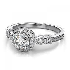 palladium engagement rings 3 2mm vintage halo diamond sidestones engagement ring