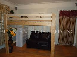 supreme queen size heavy duty loft bed with double safety