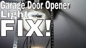 garage opener light bulb fix change the light bulb in your garage door opener genie
