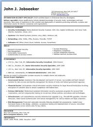 Information Security Resume Template Information Security Resume Security Architect Resume