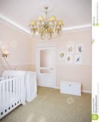 nursery interior design in classic style stock illustration