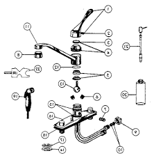 delta kitchen faucet schematic peerless repair parts single handle