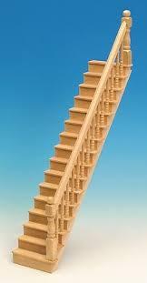 bausatz treppe geradläufige treppe für das puppenhaus bausatz de spielzeug