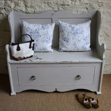 distressed storage bench outdoor why not a distressed storage