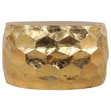 Overstock Round Coffee Table - gemoratic hammered gold leaf metal coffee table free shipping