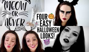 four easy last minute halloween looks ad youtube