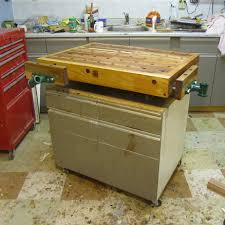 new workbench top for rolling shop cabinet by woodbridge