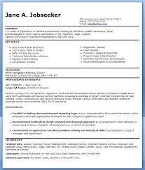 sample quality assurance resume classy design ideas tester resume