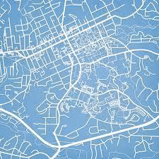 Boston University Campus Map by University Of North Carolina At Chapel Hill Campus Map Art City