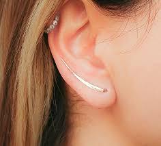 ear climber earrings ear climber earrings gold filled climbers crawler