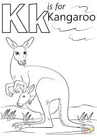kangaroo coloring page free printable kangaroo coloring pages for