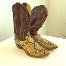 vintage womens boots size 11 80 justin boots shoes snakeskin cowboy boots vintage justin