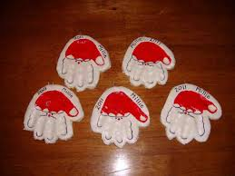 christmas ornament crafts handprint cheminee website