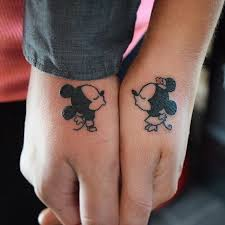 Bf Gf Tattoo Ideas Best 20 Mickey And Minnie Tattoos Ideas On Pinterest Minnie