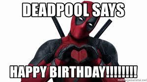 Deadpool Meme Generator - deadpool says happy birthday deadpool heart hands meme