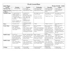 common core lesson plans printable plan template sample blank
