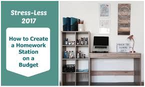 how to create a homework station on a budget mum u0027s lounge