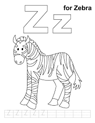 zebra coloring handwriting practice download