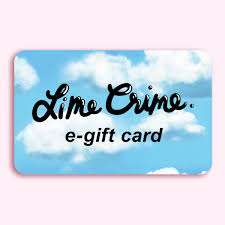 e giftcard e gift card lime crime