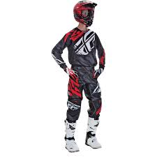 customized motocross jerseys fly racing 2017 mx new kinetic relapse black red jersey pants