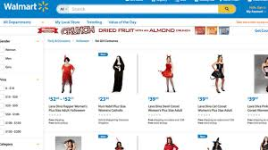 walmart halloween costumes adults walmart receives controversy over u0027fat costumes u0027 section
