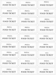 food tickets template ticket template 97 free word excel pdf psd