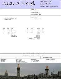 hotel invoice format resumess memberpro co
