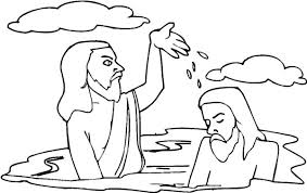 john splashing water jesus head john baptist coloring