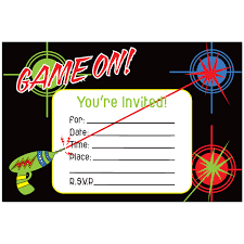 laser tag invitations templates laser tag party invitations