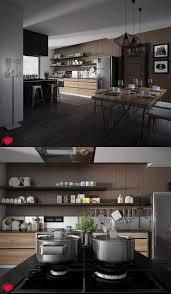 kitchen design ideas wooden window industrial kitchen design open