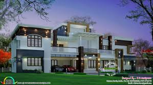 Front View House Plans Design From Home 2960 Sq Ft 4 Bedroom Indian House Design Front