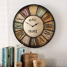 bonsoni charlotte industrial style metal wall clock by british raj