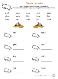 long vowel worksheets first grade free worksheets library