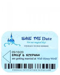disney world room key inspired wedding save the date card template