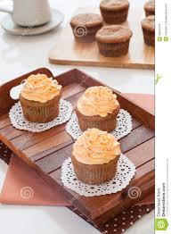 Homemade Kitchen Table by Homemade Cupcakes Served On Kitchen Table Royalty Free Stock