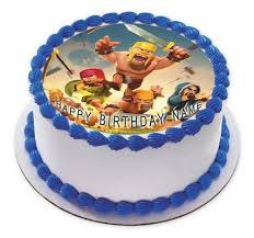 clash of clans edible birthday cake and cupcake topper u2013 edible