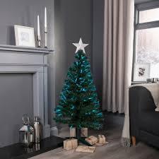 4ft christmas tree 4ft fibre optic rotating pre lit christmas tree departments