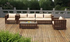 beautiful outdoor patio wicker furniture deep seating 5 pc set