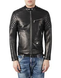 mens leather biker jacket dsquared2 leather biker jacket leather outerwear men dsquared2