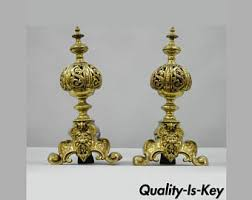 antique brass ls value antique gothic bradley hubbard phoenix griffin cast iron