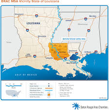 State Of Louisiana Map by Regional Maps Baton Rouge Area Chamber Brac