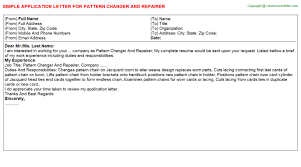 pattern changer and repairer job title docs