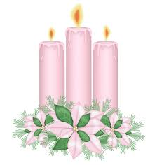 pink candles with flowers clipart crafting christmas theme