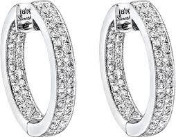 white gold diamond hoop earrings simon g white gold hoop earrings with pave diamonds sg me1144