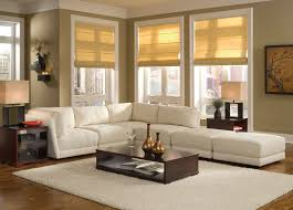 Curtains For Living Room With Brown Furniture Decorating With Rugs On Carpet Beam Ceiling Rattan Chairs White