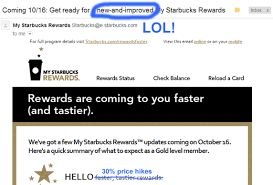 starbuck gold card new starbucks gold card program has fewer perks