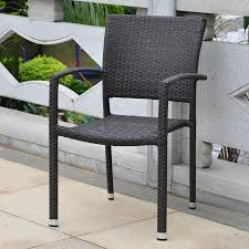 Black Wicker Patio Furniture by Resin Chairs