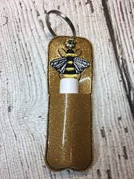 australian shepherd embroidery designs honey bee u2013 ith small stick style lip balm holder u2013 embroidery