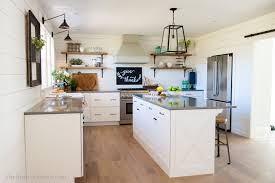 fixer blue kitchen cabinets our farmhouse kitchen reveal the house