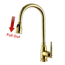 Gooseneck Kitchen Faucet With Pull Out Spray by Online Get Cheap Copper Spray Faucet Aliexpress Com Alibaba Group